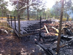 Dagen efter branden, 23/10-14, Foto KJ
