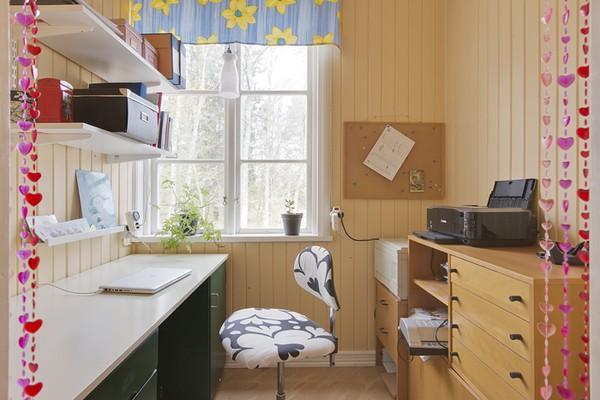 D-faspanel i arbetsrummet i vårt stora hus i den lilla byn på den Uppländska landsbygden.