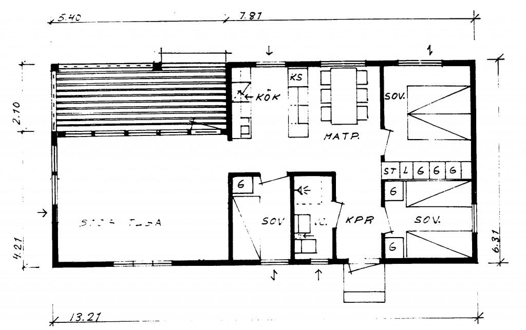Planritningen Gamla huset