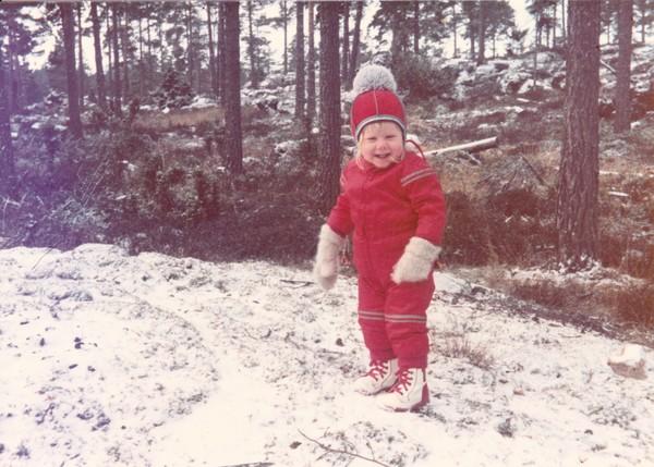 K på Ornö vintern 1976/77. Foto HA