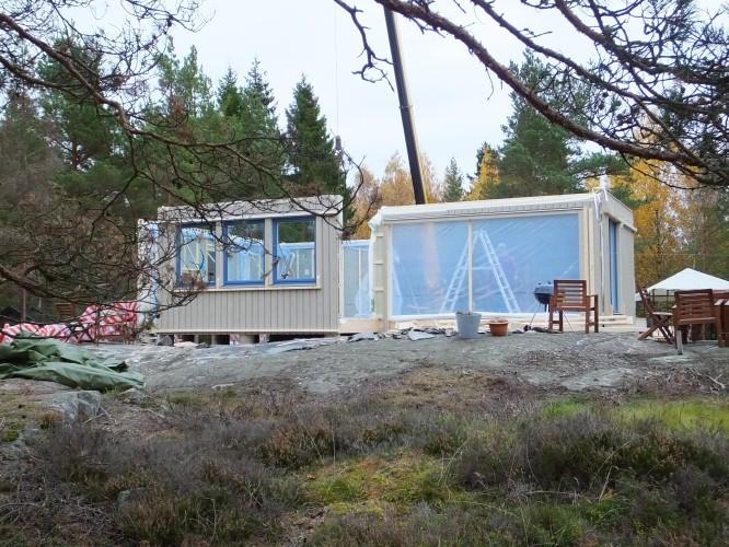 """Huset från """"sjösidan"""" Stomresning 20/10-15"""