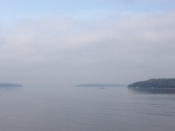 Foto taget på första morgonfärjan i september 2014