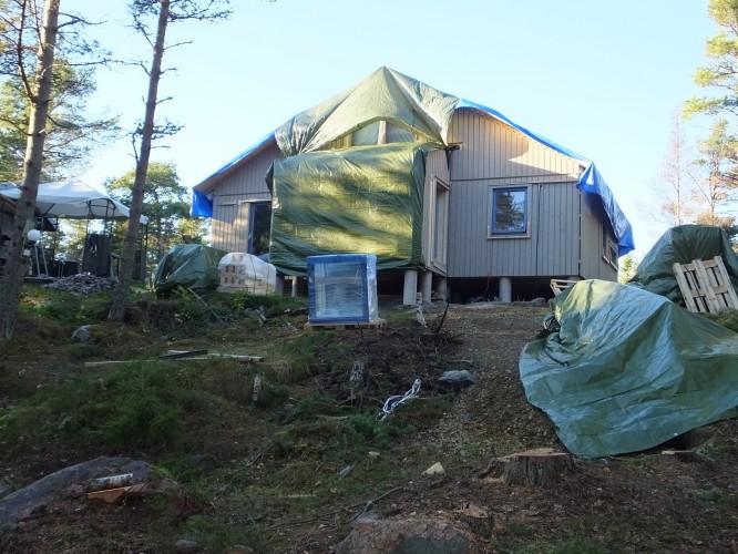 Huset seglar lite ;) , 2/11-15