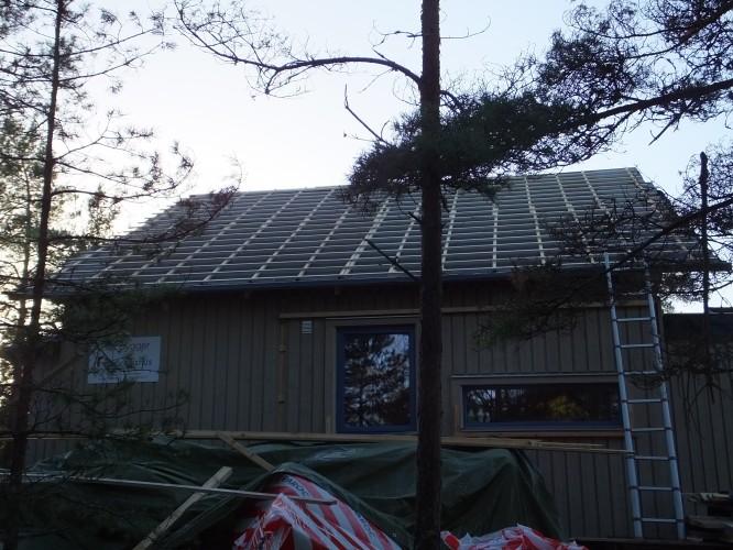 Gamla taket lagt av vår ex. snickare