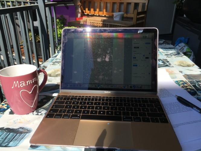 Arbeta hemifrån balkongen är en sådan där guldstund att njuta av!