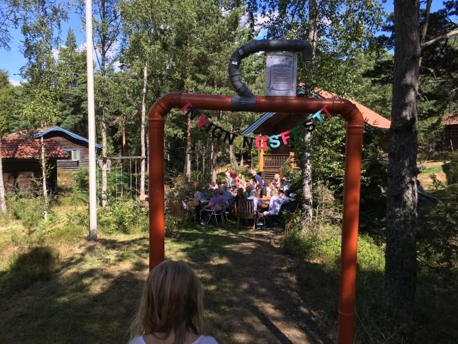 Invigningsfest för det gemensamma avloppet i vårt och grannkvarteret, 31/7-16