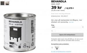 Behandla, Svart lasyr från IKEA