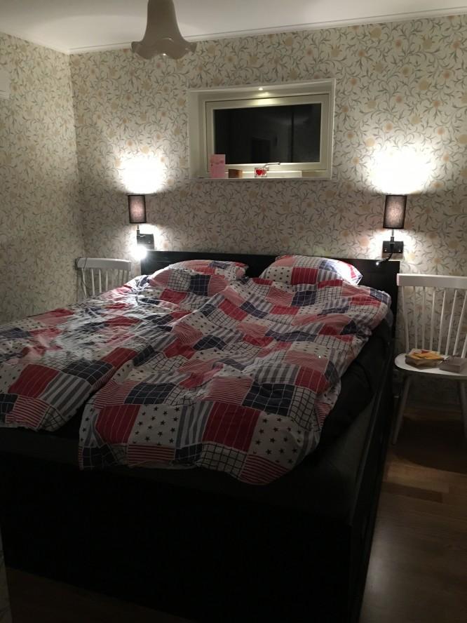 Vår modifierade IKEA Fjell sänggavel