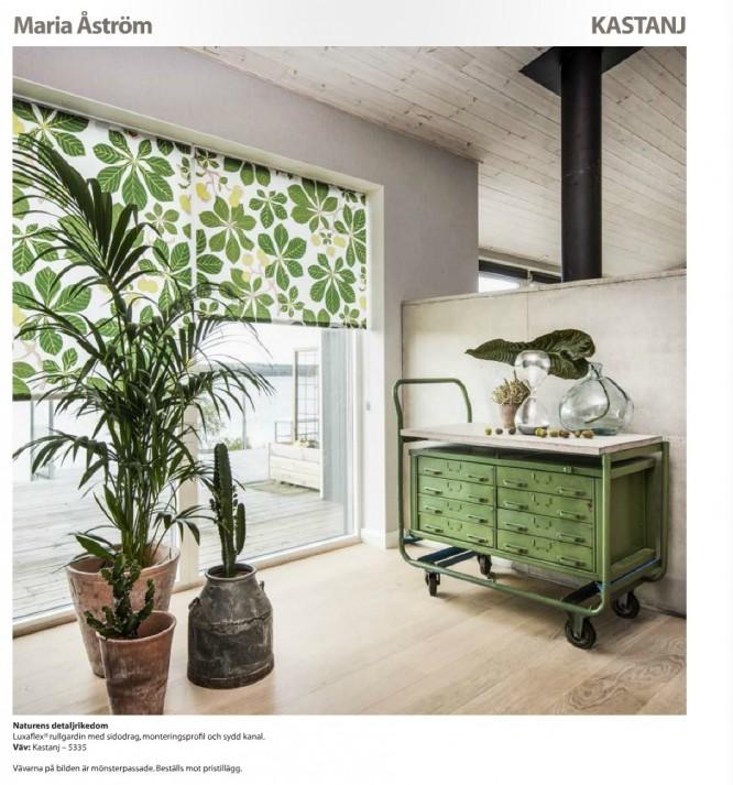 Kastanj av Maria Åström från Luxaflex; Scandinavian Design Collection.