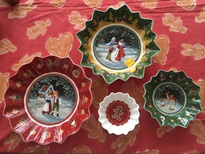 Och våra julskålar från Outleten i Mettlach.