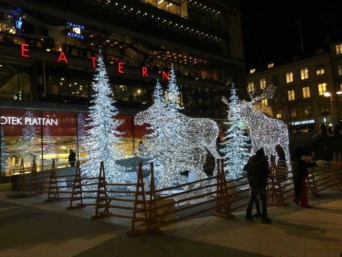Juldekoration, Sergels Torg, Stockholm 2016