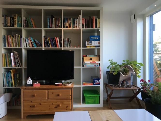 Lite provisorisk möblering, men den får duga så länge!