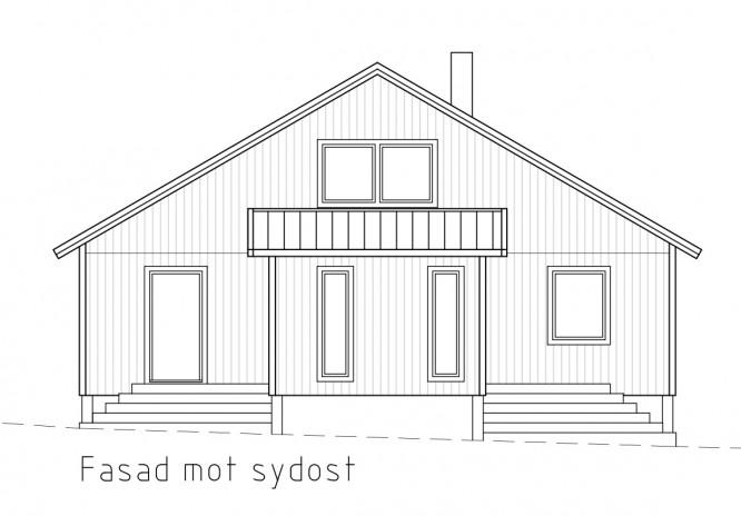 Bygglovsversionen på Villa Bergstoppen. Copyright www.nyahuset.nu och Rörvikshus