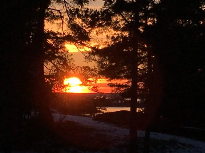 Solnedgång i mars