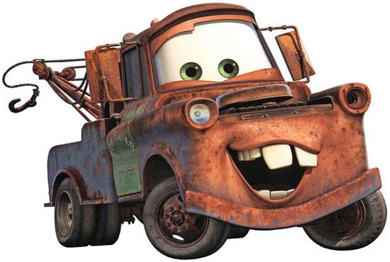 Bärgarn i filmen Bilar