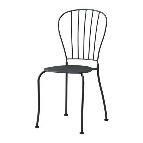 Läckö, stapelbar caféstol i metall, IKEA 200 kr.