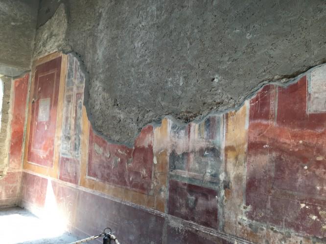 Väggmålningar i ett f.d. välbärgat hem. Pompeji 12/4-2017