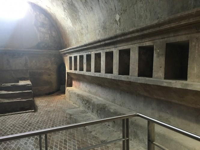 Omklädningsrummen i ett av badhusen, Pompeji 12/4-2017
