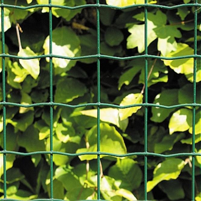 Grönt nät med 10*10 cm rutor. Källa Bauhaus