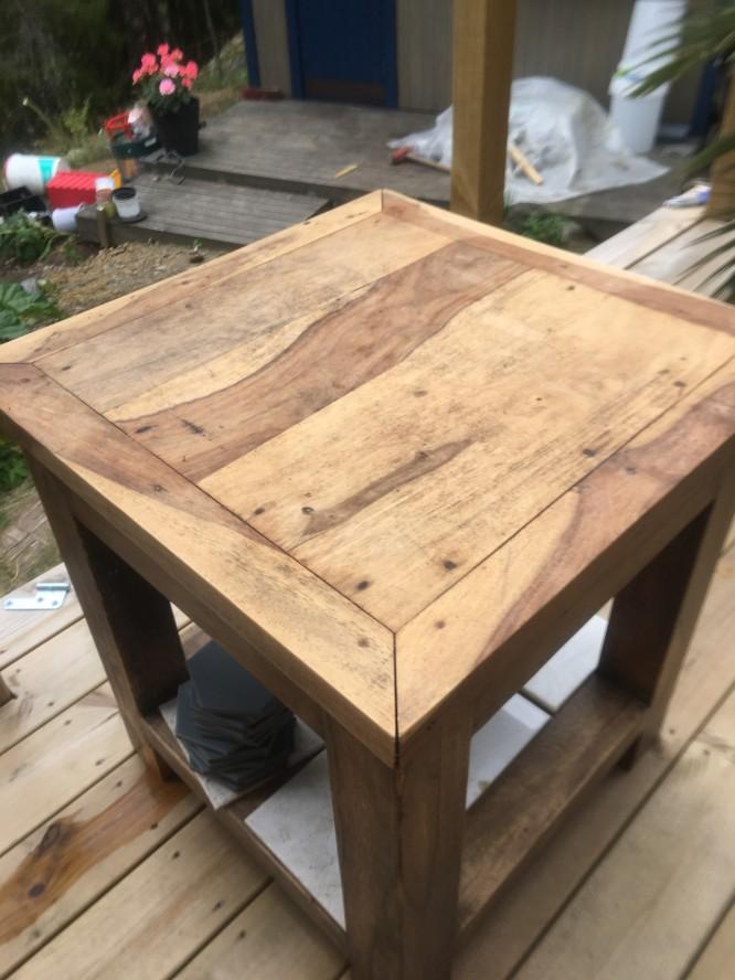 Bordet innan fixningen.