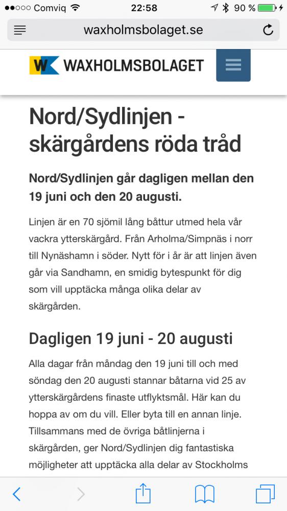 Ytterskärgårdens röda tråd = NordSydLinjen.